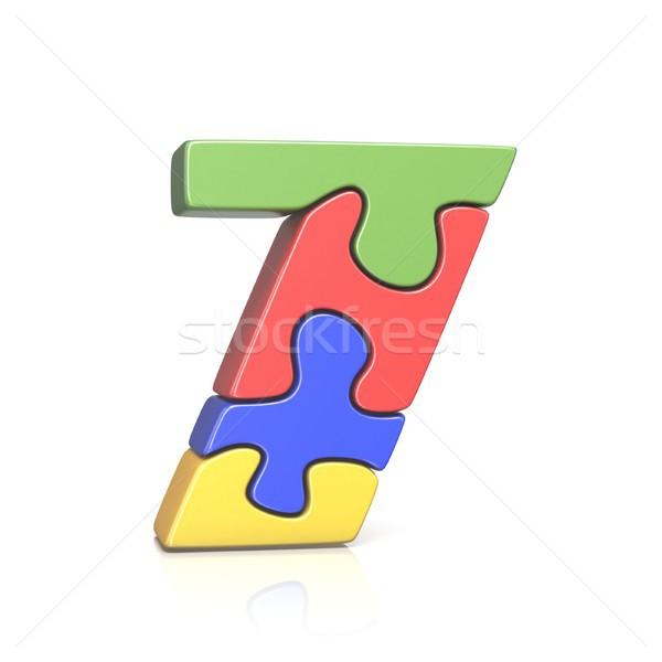 Rompecabezas número siete 3D 3d Foto stock © djmilic