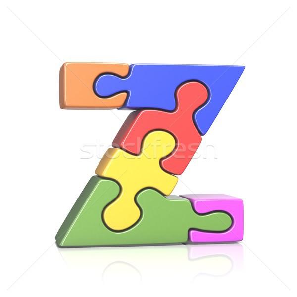 Puzzle jigsaw letter Z 3D Stock photo © djmilic