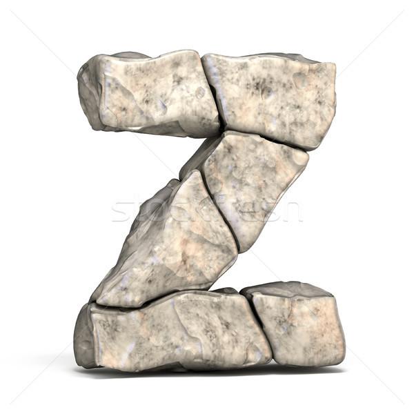 Stone font letter Z 3D Stock photo © djmilic