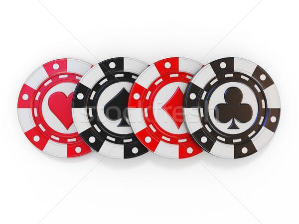 Zestaw hazardu szpadel serca diament Zdjęcia stock © djmilic