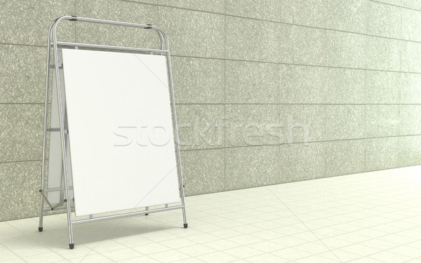 Blank white advertising stand, with copy space board in front of Stock photo © djmilic