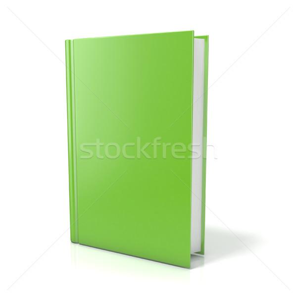 Groene boek 3D 3d render illustratie geïsoleerd Stockfoto © djmilic