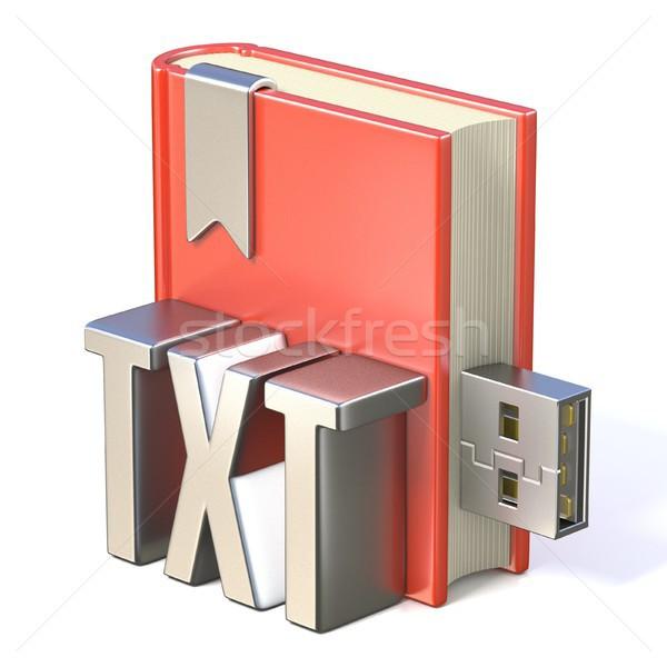 電子ブック アイコン 金属 赤 図書 usb ストックフォト © djmilic