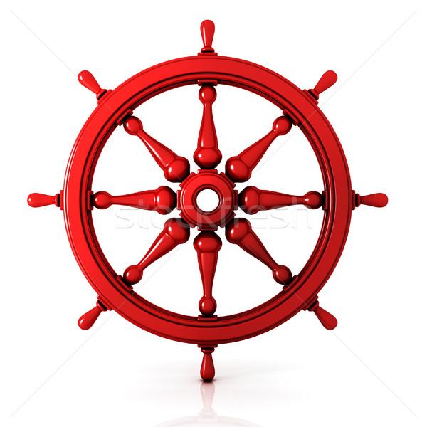 Ship wheel 3D Stock photo © djmilic