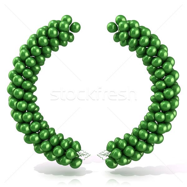 Green balloons arc laure Stock photo © djmilic