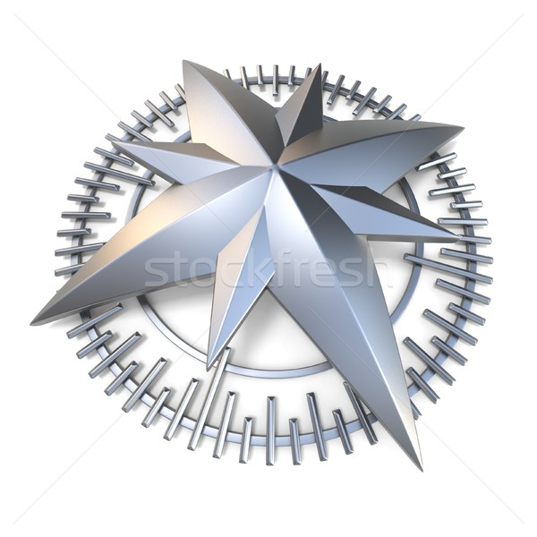 Metallic compass rose 3D Stock photo © djmilic