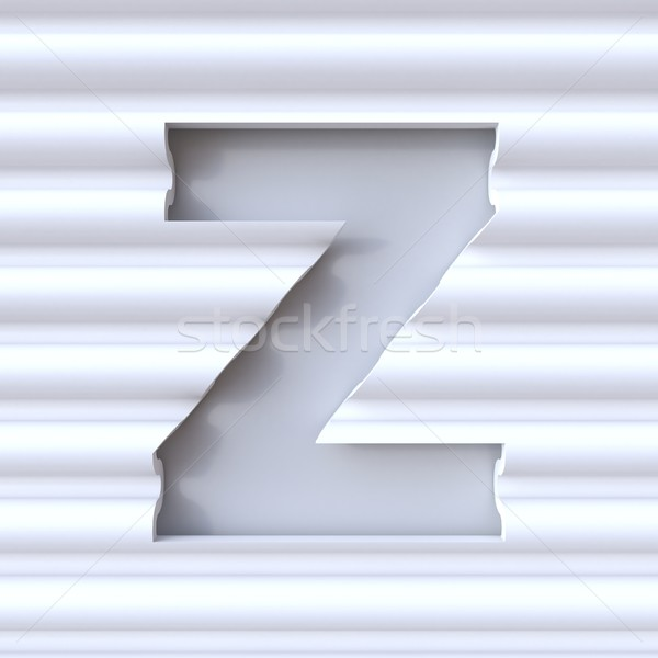 Cut out font in wave surface LETTER Z 3D Stock photo © djmilic