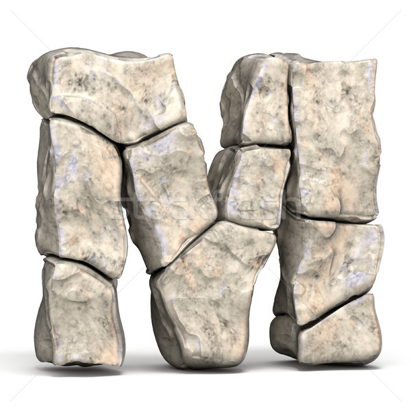 Stone font letter M 3D Stock photo © djmilic