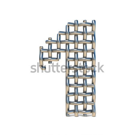 Metal lattice font letter N 3D Stock photo © djmilic