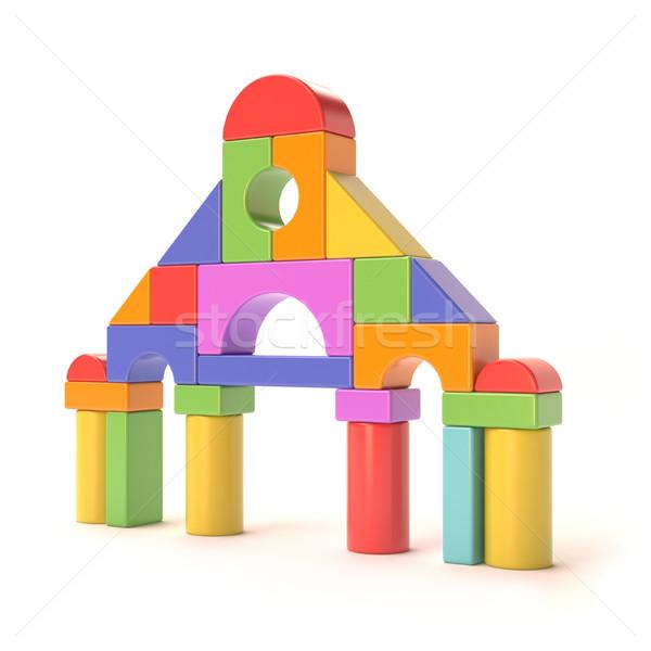 Plastikowe mały zamek front 3D Zdjęcia stock © djmilic