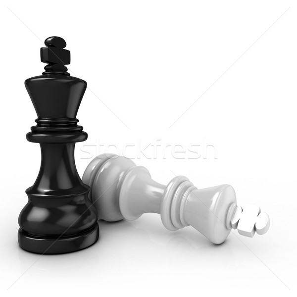 Black king chess mate Stock photo © djmilic