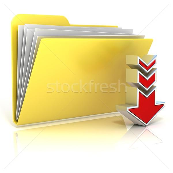 Download folder icon Stock photo © djmilic