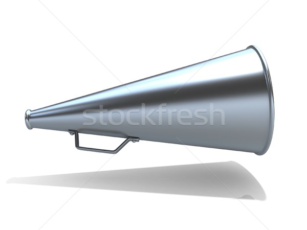 Retro - old style megaphone, isolated on white background. 3D Stock photo © djmilic