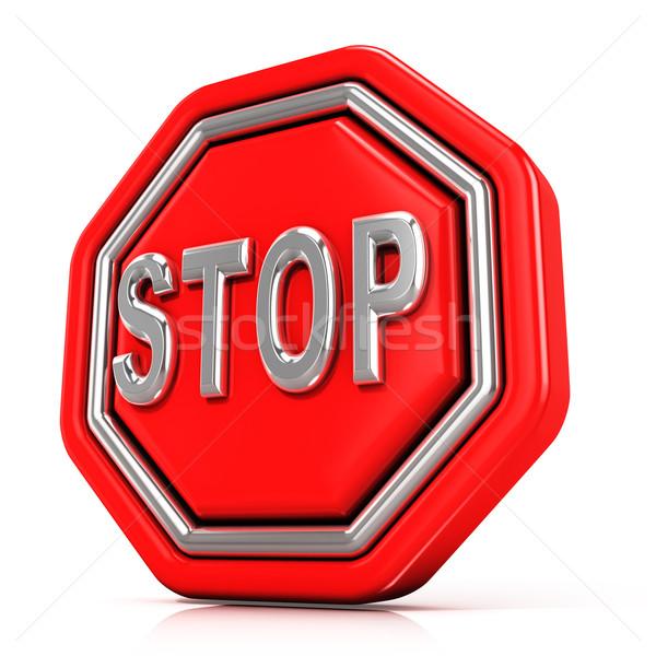 Stop sign. 3D Stock photo © djmilic