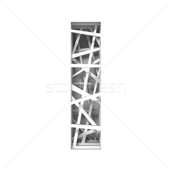 Papír kivágás betűtípus i betű 3D 3d render illusztráció Stock fotó © djmilic