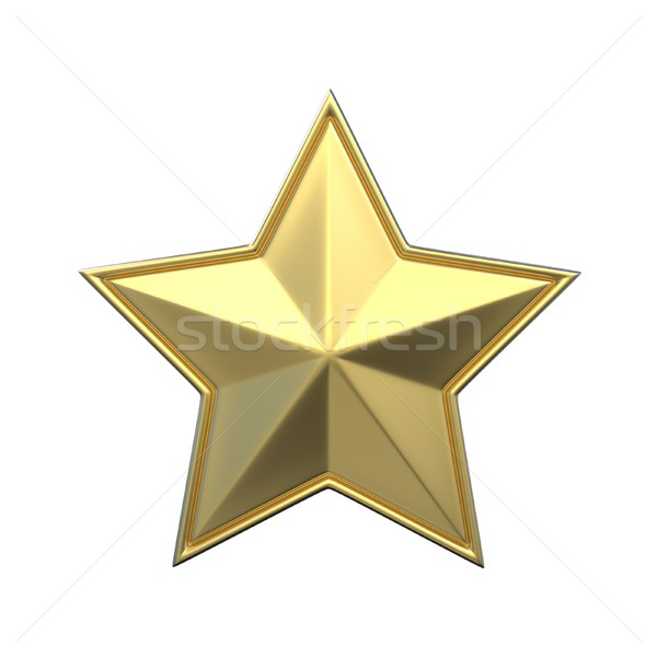 Single gold star. 3D Stock photo © djmilic