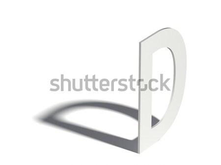 Csepp árnyék betűtípus d betű 3D 3d render Stock fotó © djmilic