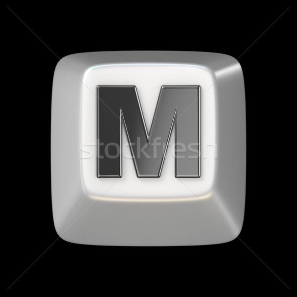 Computer keyboard key FONT. Letter M 3D Stock photo © djmilic