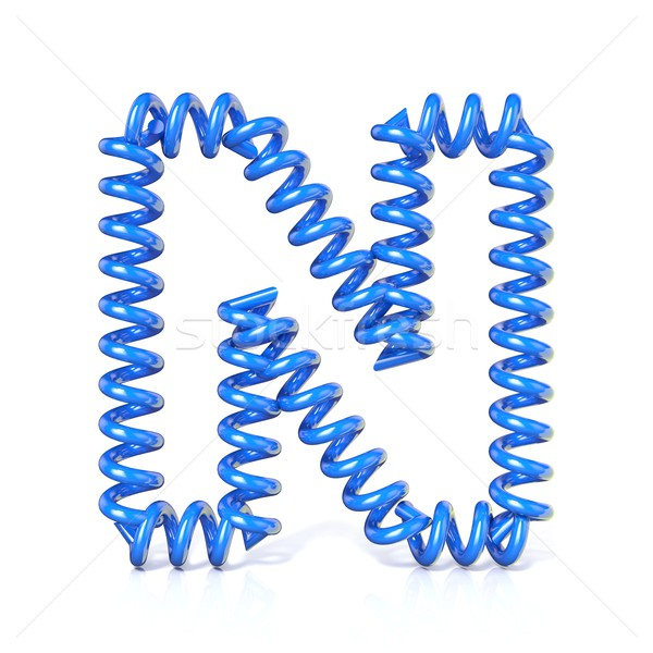 Spring, spiral cable font collection letter - N. 3D Stock photo © djmilic