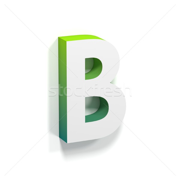 Green gradient and soft shadow letter B Stock photo © djmilic