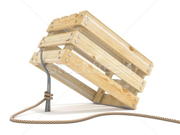 トラップ 木製 ロープ 潮 スティック ストックフォト © djmilic