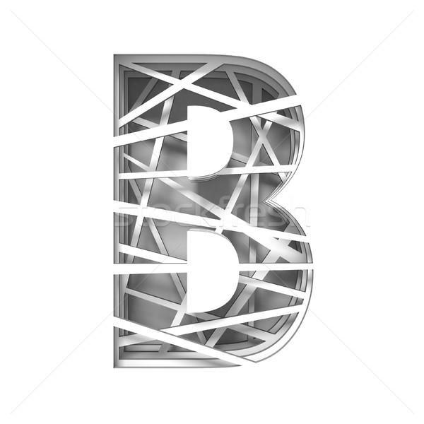 Paper cut out font letter B 3D Stock photo © djmilic