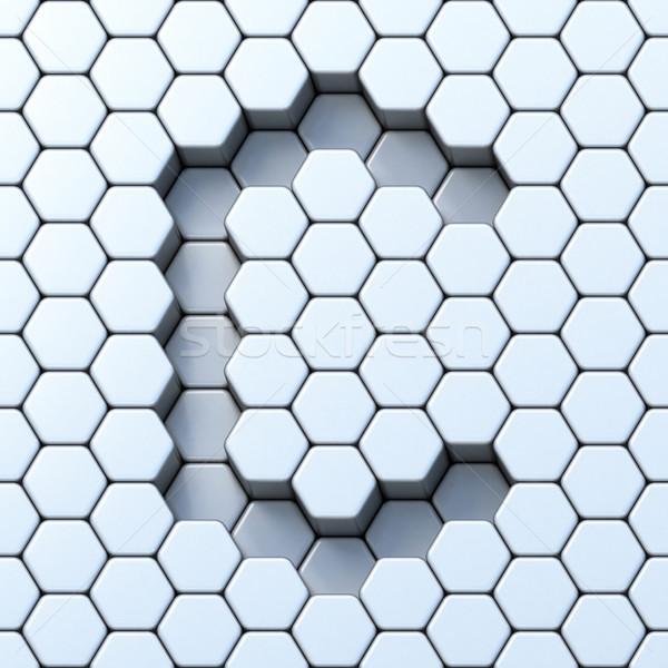 Hexagonal grid letter C 3D Stock photo © djmilic