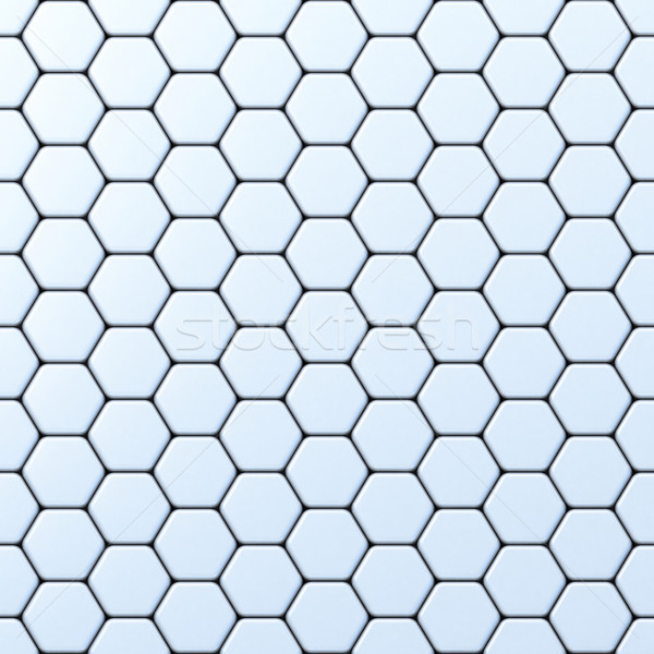 Hexagonal grid 3D Stock photo © djmilic
