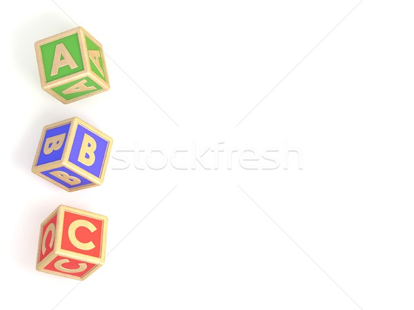 ABC list. Letter blocks A, B and C isolated Stock photo © djmilic