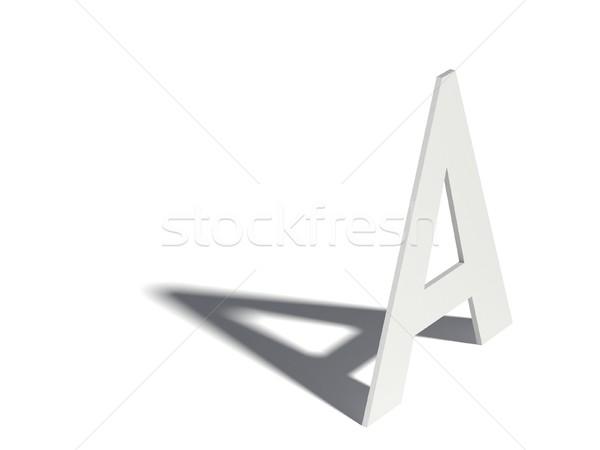 Drop shadow font  Letter A  3D stock photo © Milic Djurovic