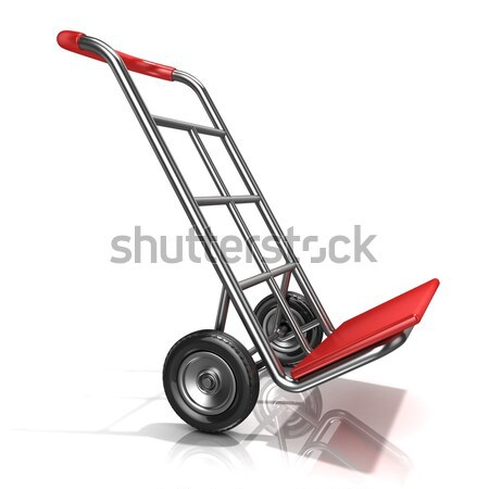 An empty hand truck, isolated on white background. 3D Stock photo © djmilic