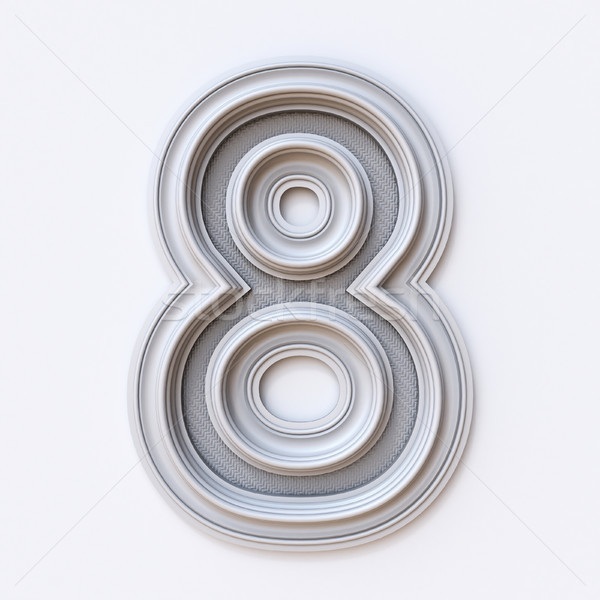 White picture frame font Number 8 EIGHT 3D Stock photo © djmilic