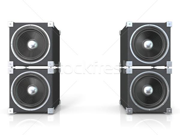 Dos sonido oradores 3D 3d ilustración Foto stock © djmilic