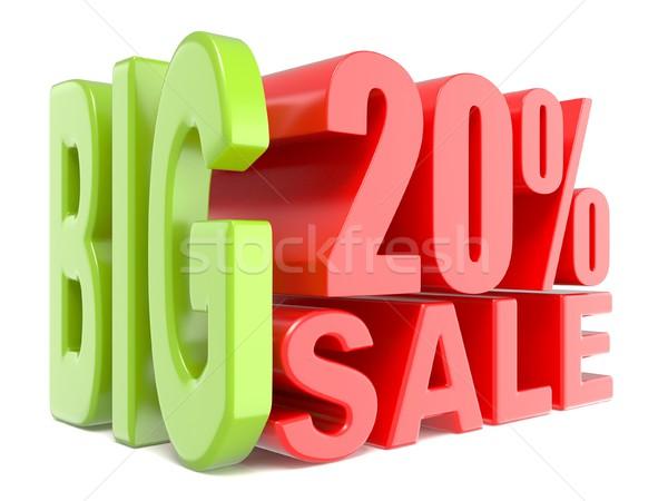 Büyük satış yüzde 20 3D sözler Stok fotoğraf © djmilic