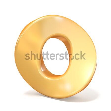Orange twisted font number ZERO 0  3D Stock photo © djmilic