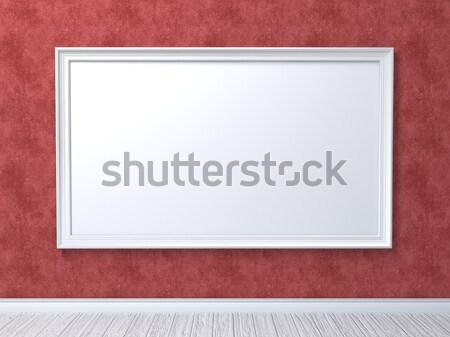 アップ ポスター 赤 壁 3dのレンダリング 実例 ストックフォト © djmilic
