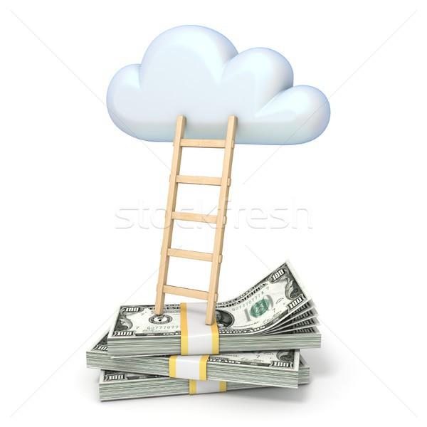 雲 はしご ドル 3D ストックフォト © djmilic