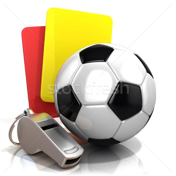 Piłka nożna kara czerwony żółty karty metal Zdjęcia stock © djmilic