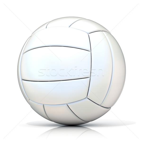 Biały siatkówka piłka odizolowany sportowe zabawy Zdjęcia stock © djmilic