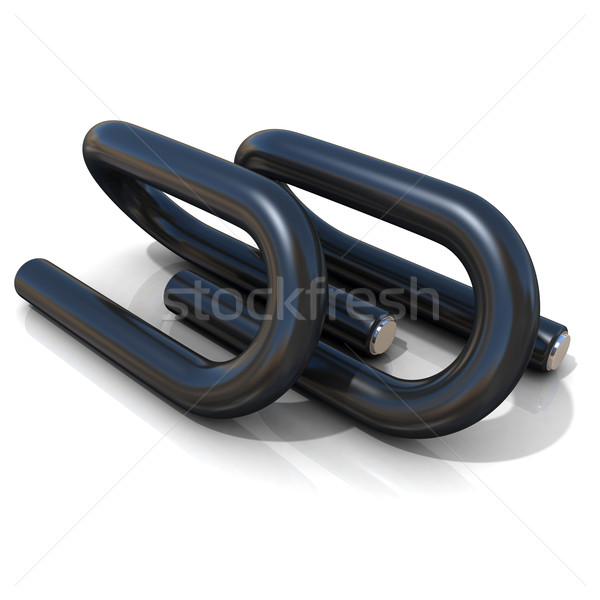 Black push-up bars Stock photo © djmilic