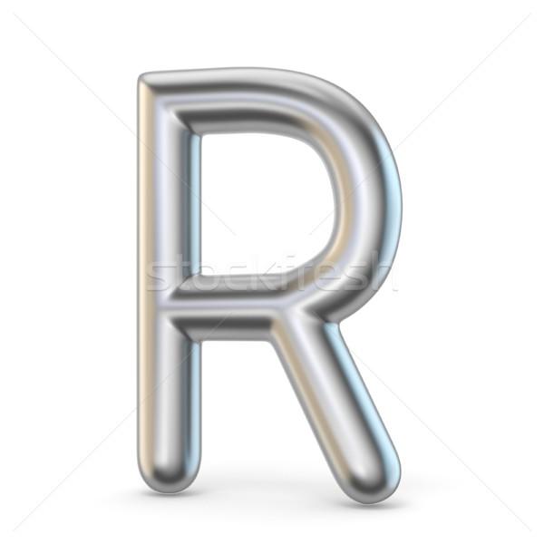 Fém ábécé szimbólum r betű 3D 3d render Stock fotó © djmilic