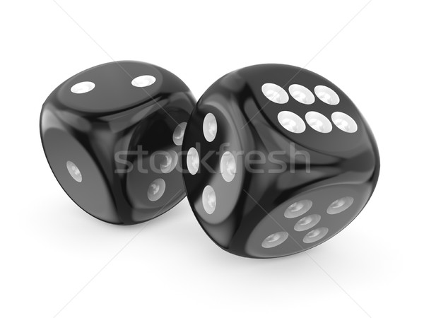 Black game dices 3D Stock photo © djmilic