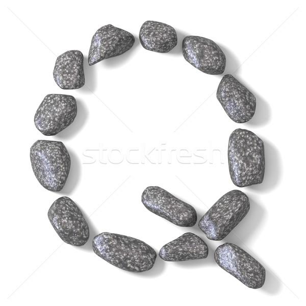 Font made of rocks LETTER Q 3D Stock photo © djmilic