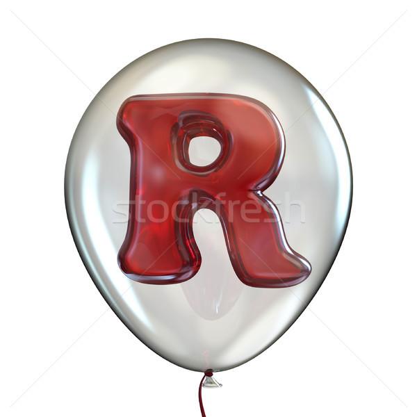 R betű átlátszó léggömb 3D 3d render illusztráció Stock fotó © djmilic
