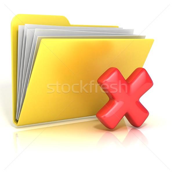Negativo vermelho verificar dobrador ícone Foto stock © djmilic