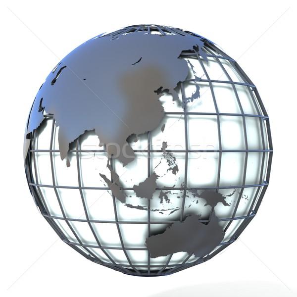 стиль иллюстрация земле мира Азии Океания Сток-фото © djmilic