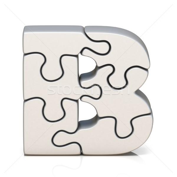 White puzzle jigsaw letter B 3D Stock photo © djmilic
