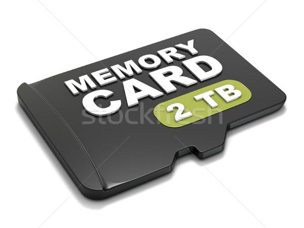 Emlék kártya elöl kilátás 3D 3d render Stock fotó © djmilic