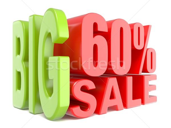 Groot verkoop procent 60 3D woorden Stockfoto © djmilic