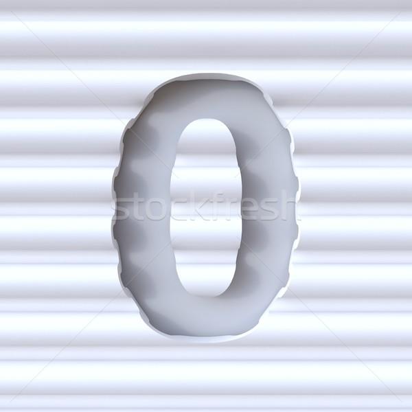 Kivágás betűtípus hullám felület szám nulla Stock fotó © djmilic